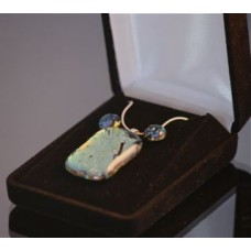 Gold dichroic glass jewellery set