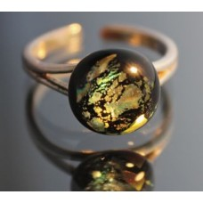 Black/gold ring